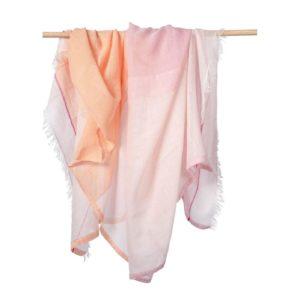 peach scarf peach