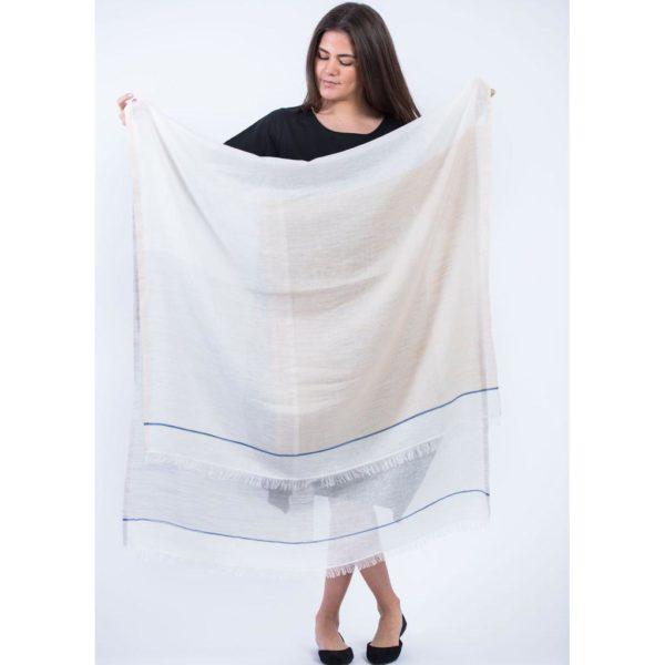 luxuriously soft organic summer scarf