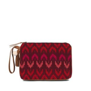 Brushstroke leather clutch bag