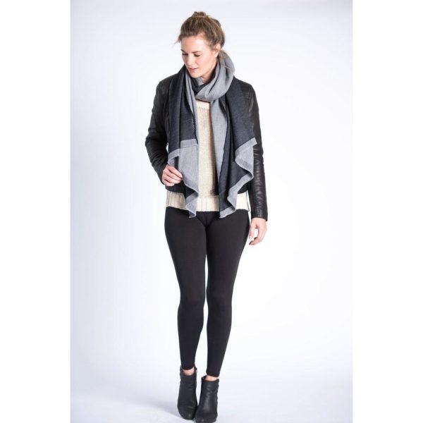 grey woolen scarf