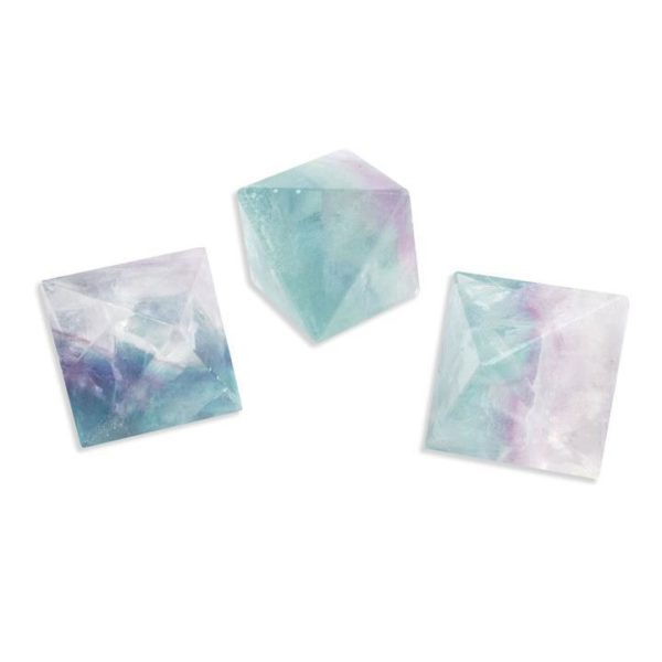 green purple healing crystal