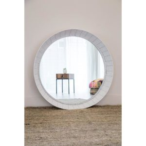 large circle floor or wall mirror