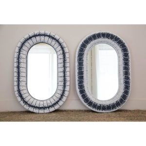 large oval floor or wall mirror