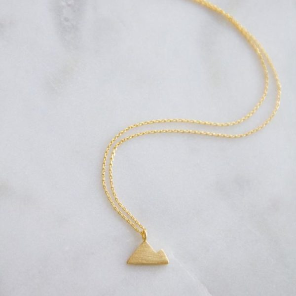 yellow gold mountains necklace
