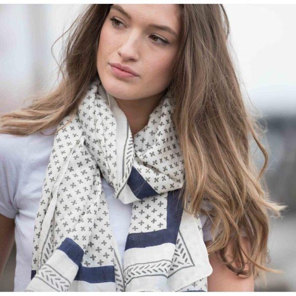 cotton scarf cotton silk