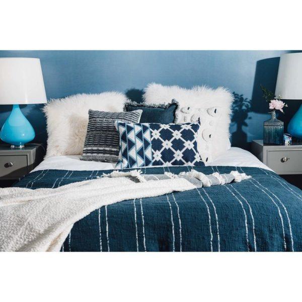 indigo blue throw pillows