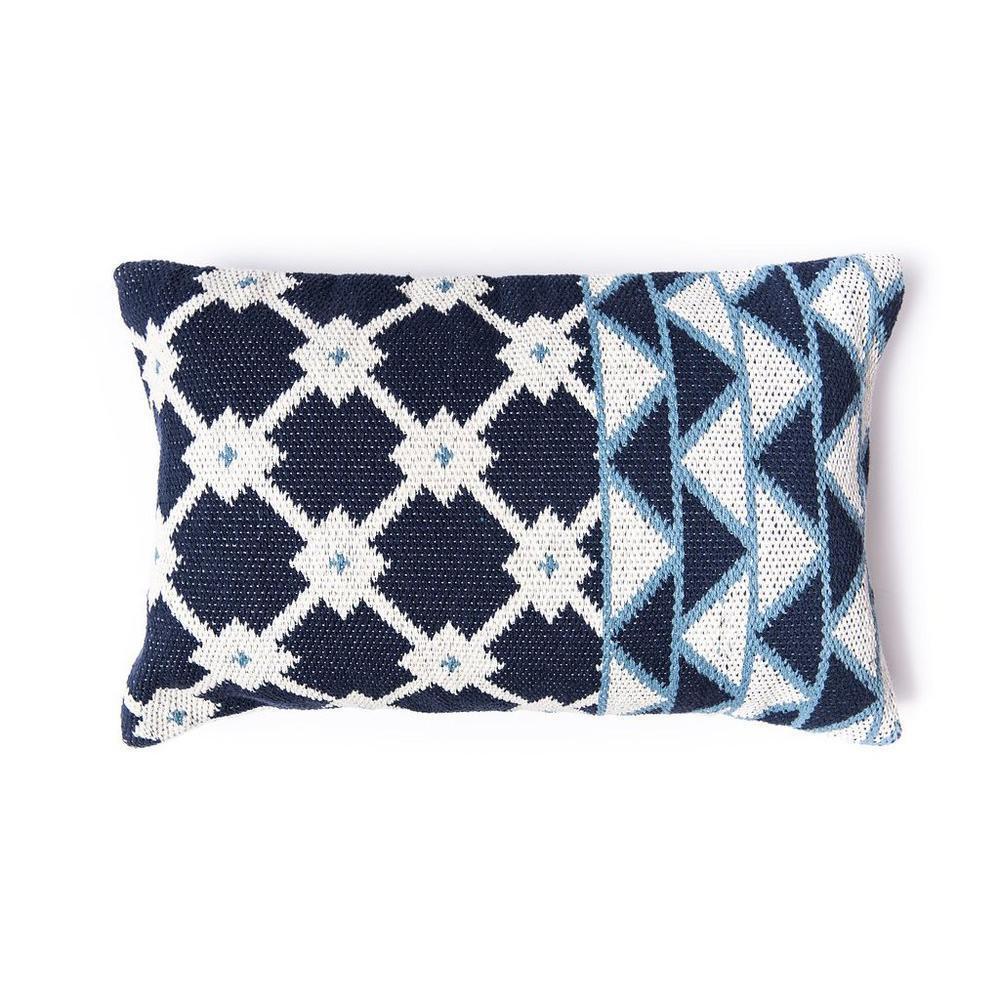 Tina Indigo Cotton Pillow