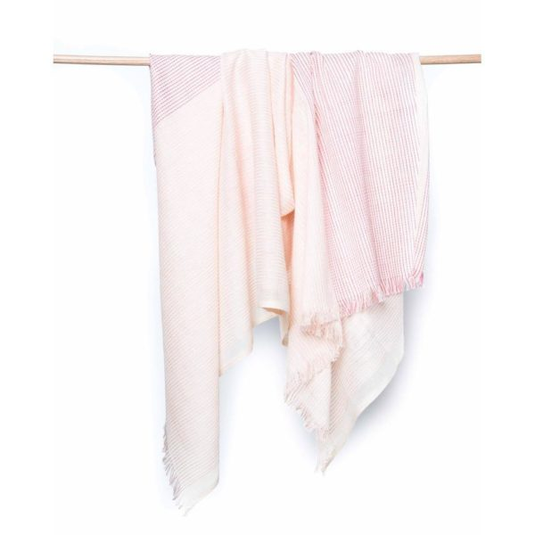 gorgeous hand-loomed pink scarf