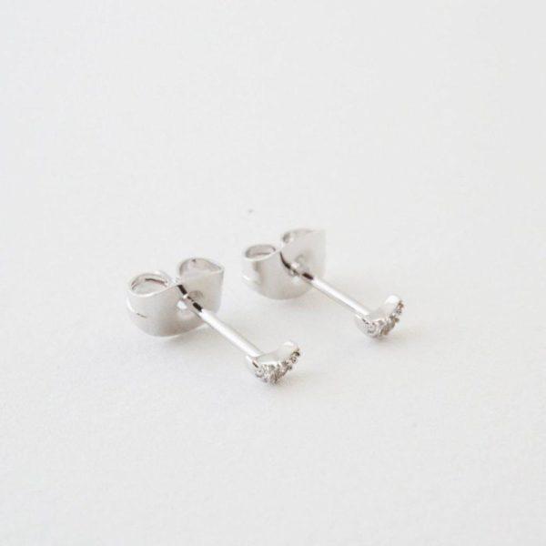 Crystal Stud earrings sterling silver