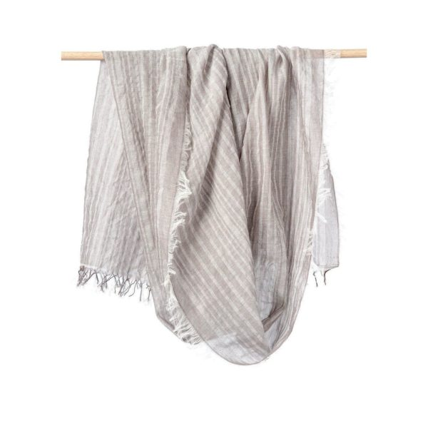 taupe scarf textiles with precious gold