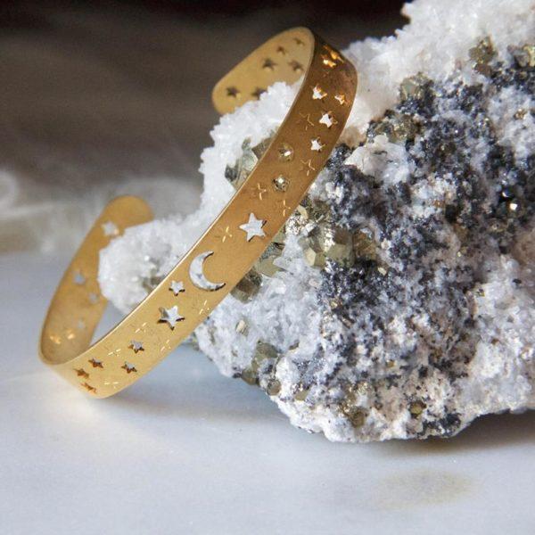moon star bracelet handmade