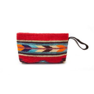MZ Fairtrade Handmade Red Wristlet Clutch Purse