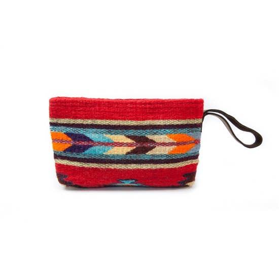 MZ Fairtrade Handmade Red Wristlet Clutch Purse