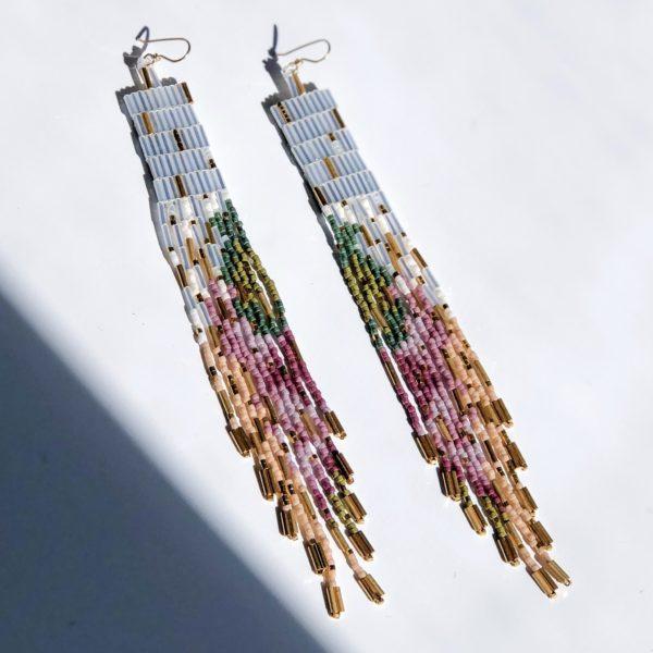 Gardenia Earrings by Wild Mint Jewelry