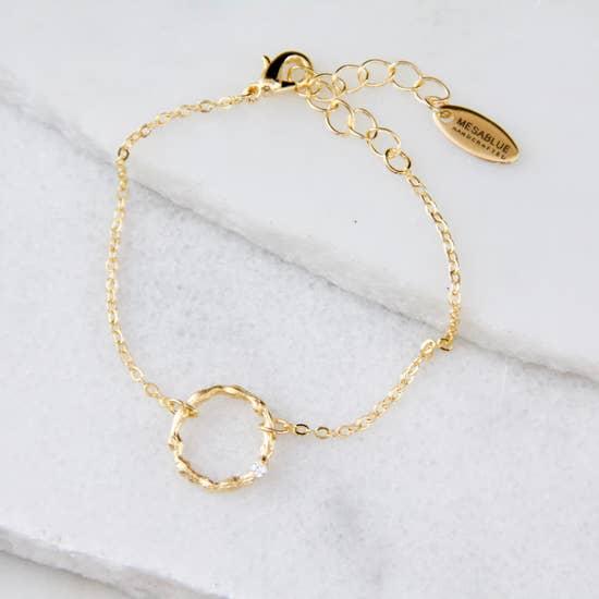 Hammered Hoop Bracelet