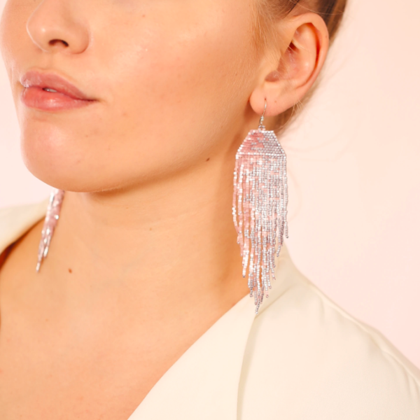 Pink Dream Beaded Earrings